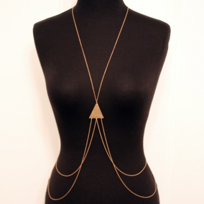 Triangle Cool Body Chain Body Neckl..