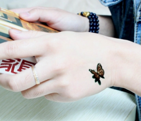 4Pcs 3D Butterfly Print Tattoo Stickers